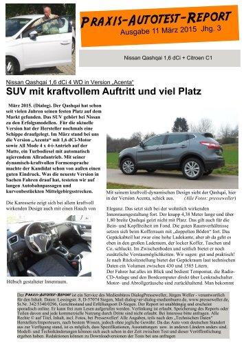 Praxis-Autotest-Report: Nissan Qashqai