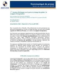 1ère réunion d'échanges sur la prise en charge des ... - CHU Marseille