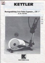 und Montageanleitung - CTR1 2002 / 2003 - Fahrrad Kaiser Gmbh