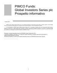 PIMCO Funds: Global Investors Series plc Prospetto ... - Fideuram Vita