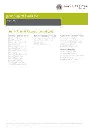 Janus Capital Funds Plc Semi-Annual Report ... - Fideuram Vita