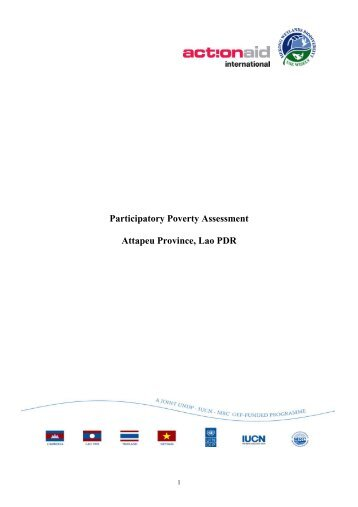 participatory poverty assessment Poverty assessment methodology known as the 'stages of progress methodology   participatory poverty assessments have reinforced the idea that poverty is.