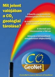 Mit jelent valójában a CO2 geológiai tárolása? - CO2Geonet