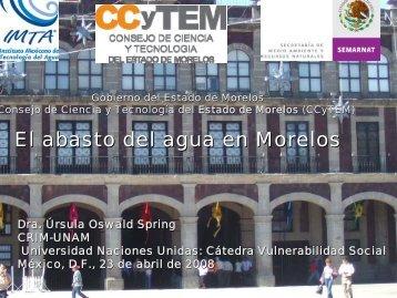 Dra. Ursula Oswald - ATL el portal del agua desde México