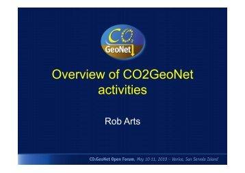Overview of CO2GeoNet activities