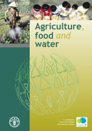 Agriculture, food and water