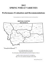 2012 SPRING WHEAT VARIETIES Performance Evaluation and ...