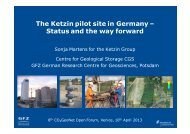 The Ketzin pilot site in Germany – Status and the way forward ...