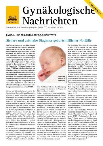 Gynäkologische Nachrichten - Hologic Deutschland GmbH