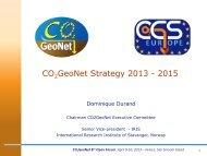 CO GeoNet Strategy 2013 - 2015 - CO2Geonet