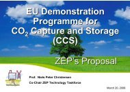 EU Demonstration Programme for CO Capture and ... - CO2Geonet