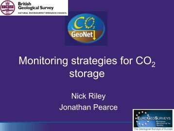 Site monitoring strategies - CO2Geonet