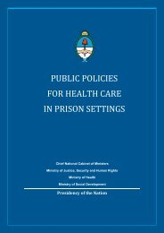 public policies for health care in prison settings - Jefatura de ...