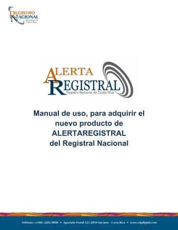 Manual de alerta registral.pdf - Registro Nacional