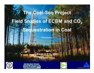 The Coal-Seq Project - Field Studies of ECBM and CO 2 ...