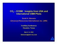 ECBM: Insights from USA and International CBM Pilots - Coal-Seq