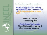 CO 2 Sequestration in Geologic Formations - Coal-Seq
