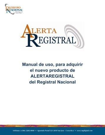 Manual de uso, para adquirir el nuevo producto ... - Registro Nacional