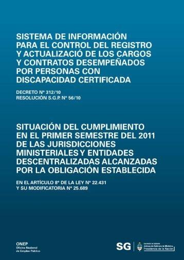 1er. semestre 2011 (PDF) - Jefatura de Gabinete de Ministros