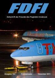 Zeitschrift der Freunde des Flughafen Innsbruck Ausgabe 104 ...