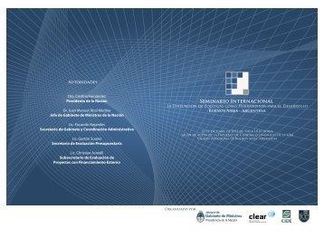 PROGRAMA DEL EVENTO (pdf) - Jefatura de Gabinete de Ministros