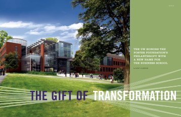 The Gift of Transformation - University of Washington Foster School ...
