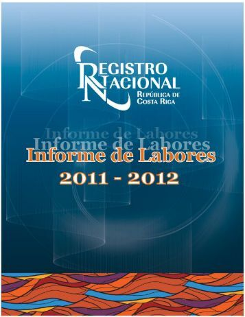 informe registro 201.. - Registro Nacional