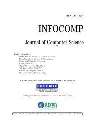INFOCOMP - Departamento de Ciência da Computação - Ufla