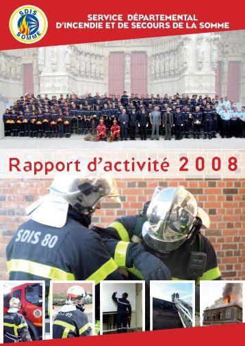Rapport d'activité 2008 - SDIS80