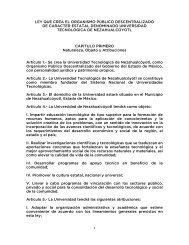 ley que crea el organismo público descentralizado de caracter ...