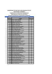 Programa de Estimulos al Desempeño Academico 2011-1 (TSU).