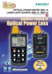OPTICAL POWER METER 3661-20, LASER LIGHT SOURCE 3662 ...