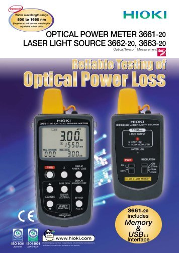 OPTICAL POWER METER 3661-20, LASER LIGHT SOURCE 3662 ...