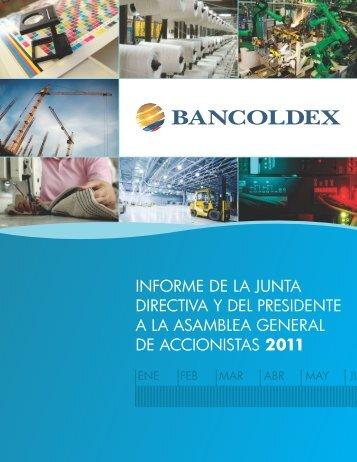 Informe de la Junta Directiva y del Presidente Año 2011 - Bancoldex