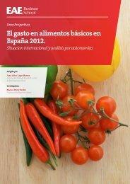 El gasto en alimentos básicos en España 2012. - Cladea