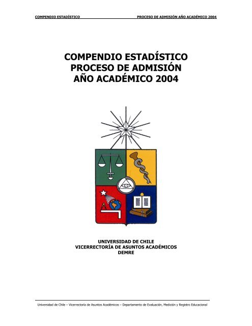 compendio estadístico proceso de admisión año ... - Demre