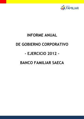 Informe Gobierno Corporativo - Banco Familiar
