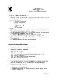 pautas de presentacion del tp contenido seguridad e higiene