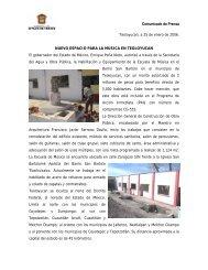 nuevo espacio para la música en teoloyucan - Dirección General de ...