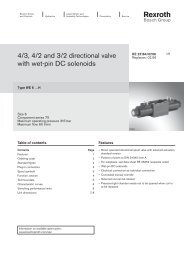 4/3, 4/2 and 3/2 directional valve with wet-pin DC solenoids