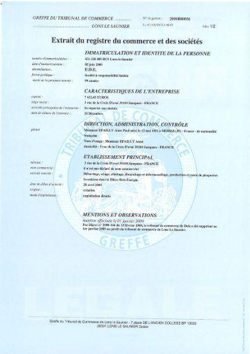 Registre du commerce for Chambre de commerce wallonie