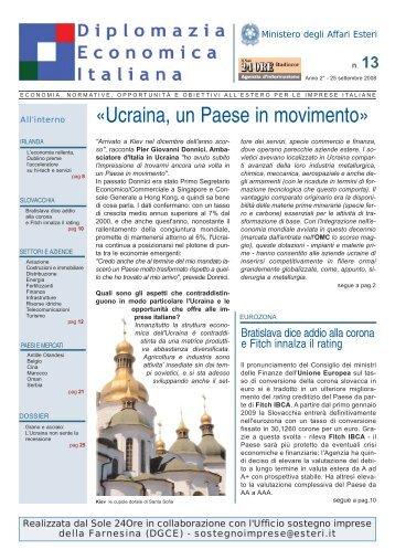 Settembre 2008 - Notiziario Farnesina - Il Sole 24 Ore