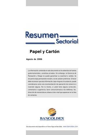 Papel y Cartón - Bancoldex