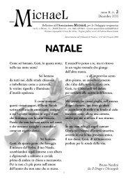 Anno 2, n°2 - Dicembre 2003 - Associazione Michael per la ...