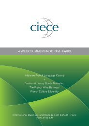 4 WEEK SUMMER PROGRAM - PARIS