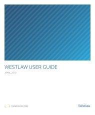 WESTLAW USER GUIDE - Facultad de Derecho