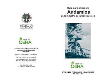 Andamios - Departamento del Trabajo y Recursos Humanos