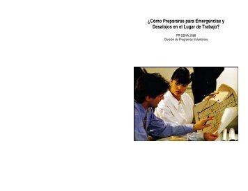 Planes Emergencias - Departamento del Trabajo y Recursos ...
