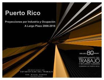 Puerto Rico Proyecciones por Industria y Ocupación A Largo ... - CCE