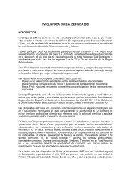 Bases Generales de la Olimpiada - Universidad Andrés Bello